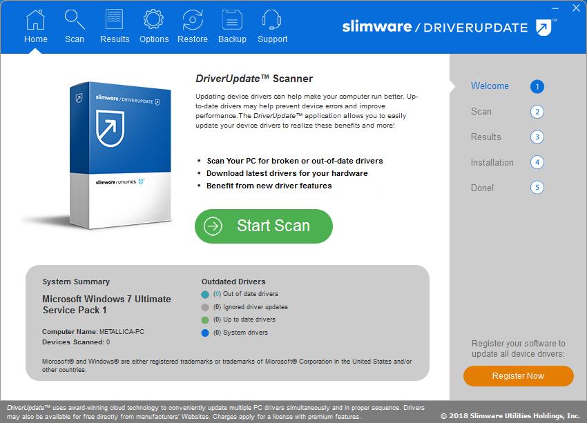 SlimWare DriverUpdate Crack 5.8.19.60 Latest Version Free Download